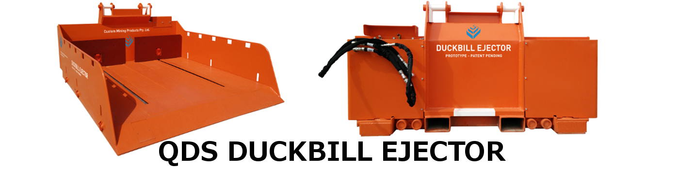 Custom Mining Products Pty - QDS Duckbill Ejector for low loaders in underground coal mines
