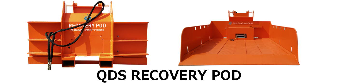 Custom Mining Products Pty - QDS Recovery Pod for low loaders in underground coal mines